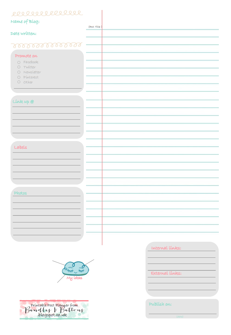 Bundles and buttons free downloadable blog post planner for Free online room planner no download