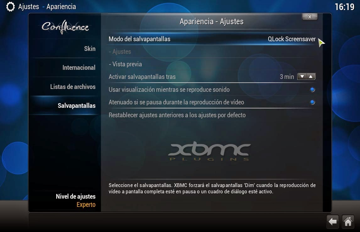 QLOCK Screensaver XBMC KODI