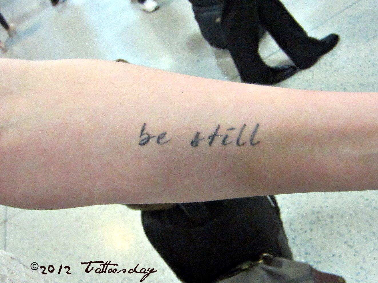 tattoosday a tattoo blog be still
