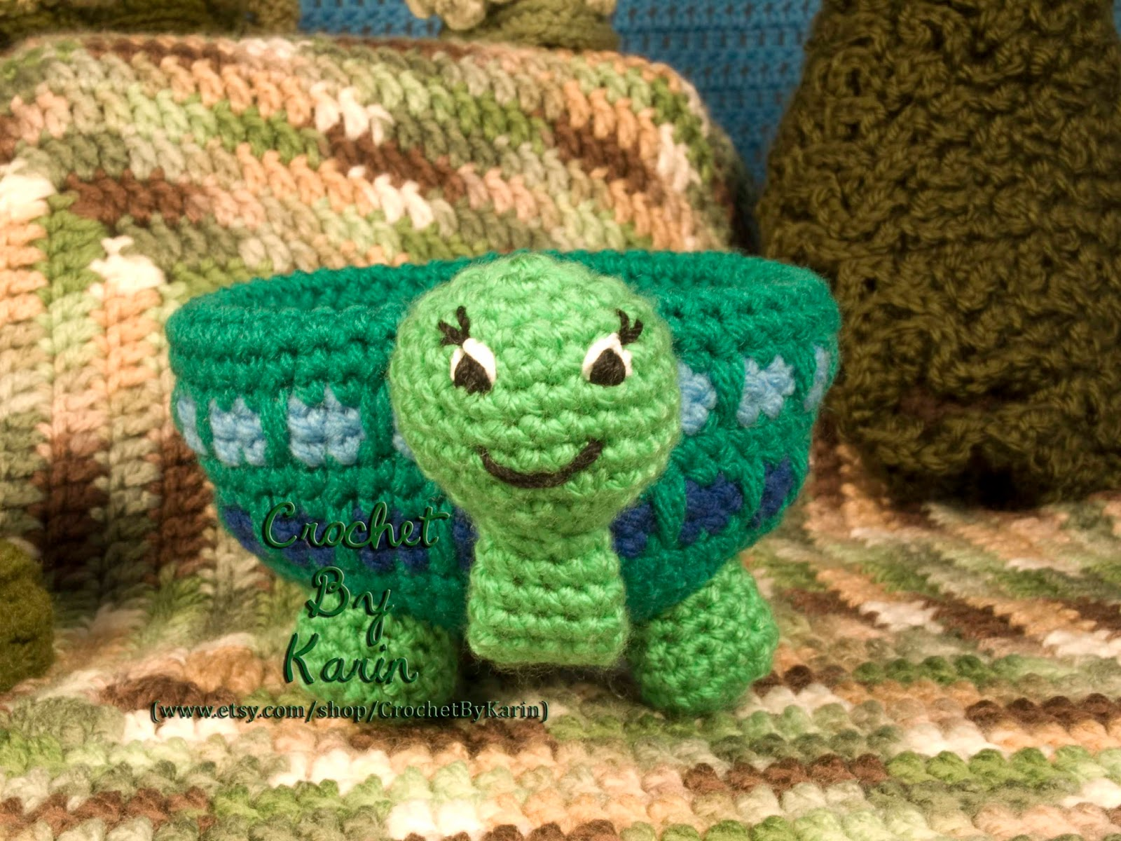 Crochet Patterns Turtle : CrochetByKarin: Turtle Candy Dish Crochet Pattern