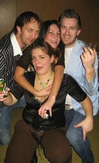 funny picture: drunks spilling beer