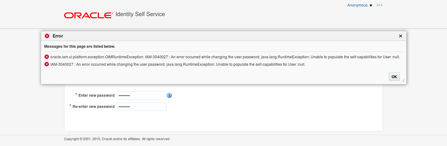 oracle how to change password when expired