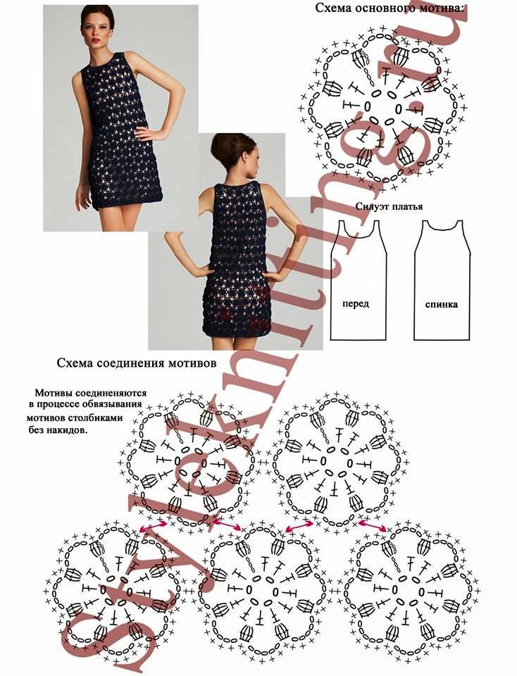 Схема вязания платья летнего 96