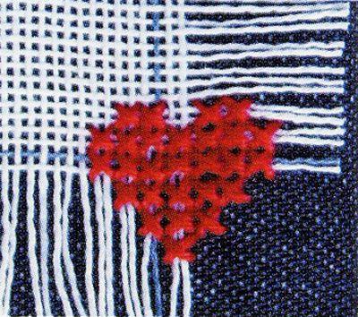 Как перенести вышивку крестом с канвы на ткань 59
