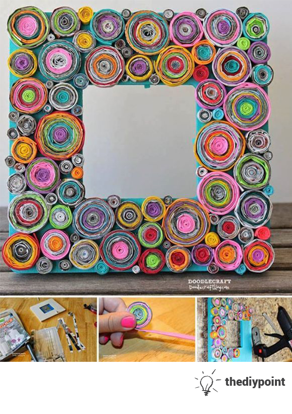 Decorate an old frame Diy.