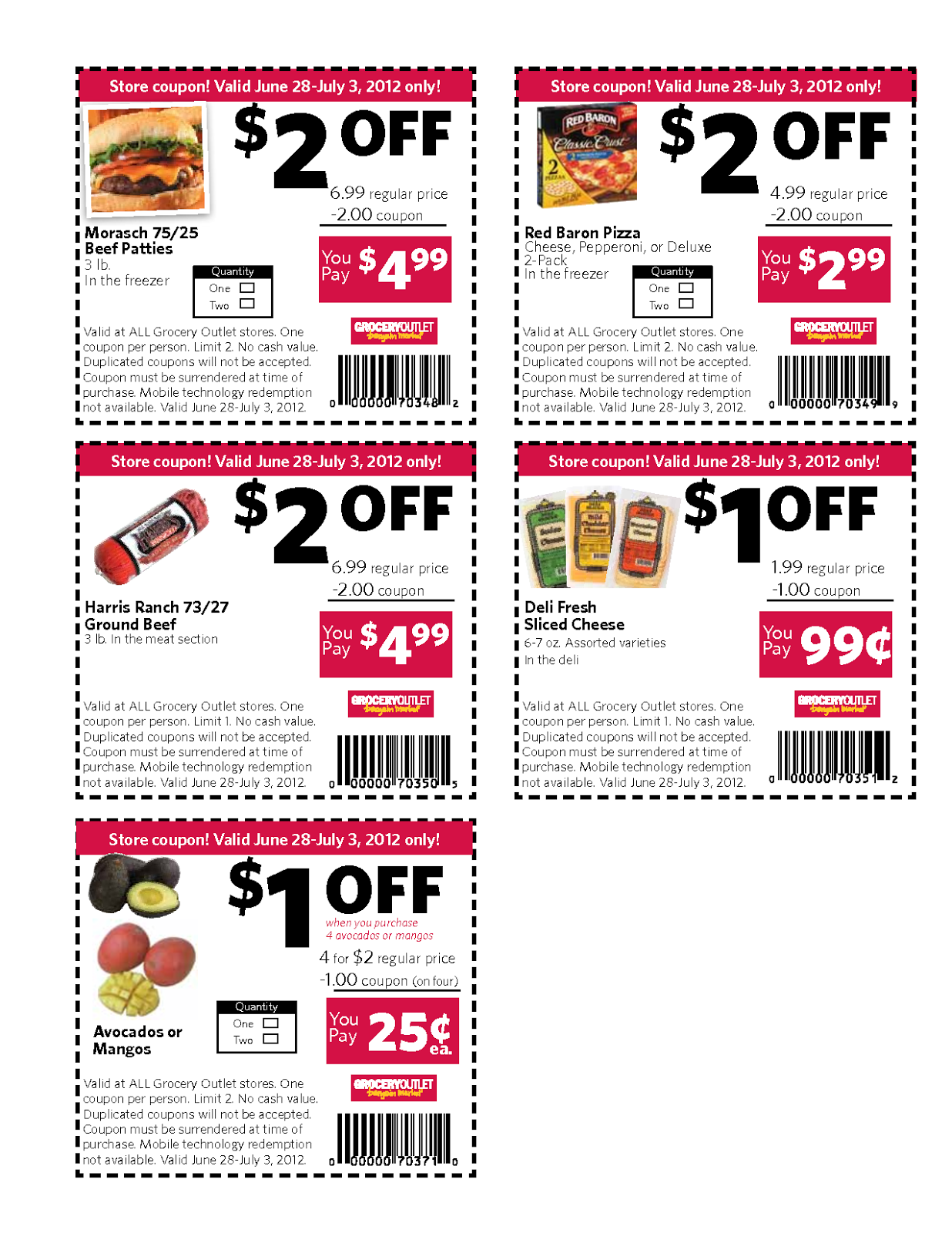 Printable coupons need a barcode so that they can be scanned at the store. If your coupon prints without a barcode, this is usually a sign that there is an issue with java on your computer. Try to update java on your computer to see if that helps.
