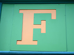 F by docksidepress via Flickr and a Creative Commons license
