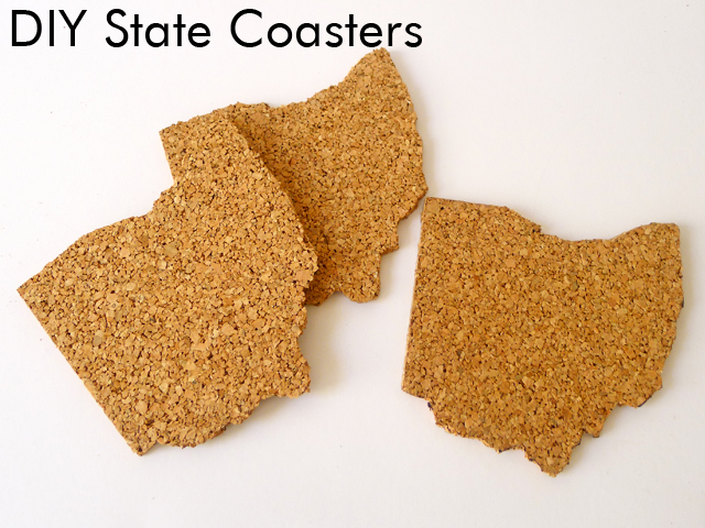 Thanks i made it diy cork state coasters for Cork coasters for crafts