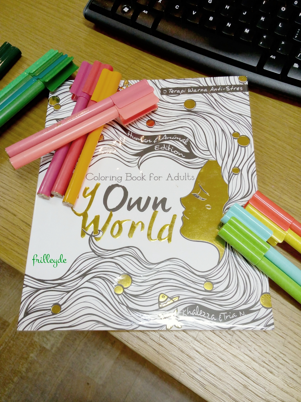 Frilley Dee My Own World Coloring Book For Adults