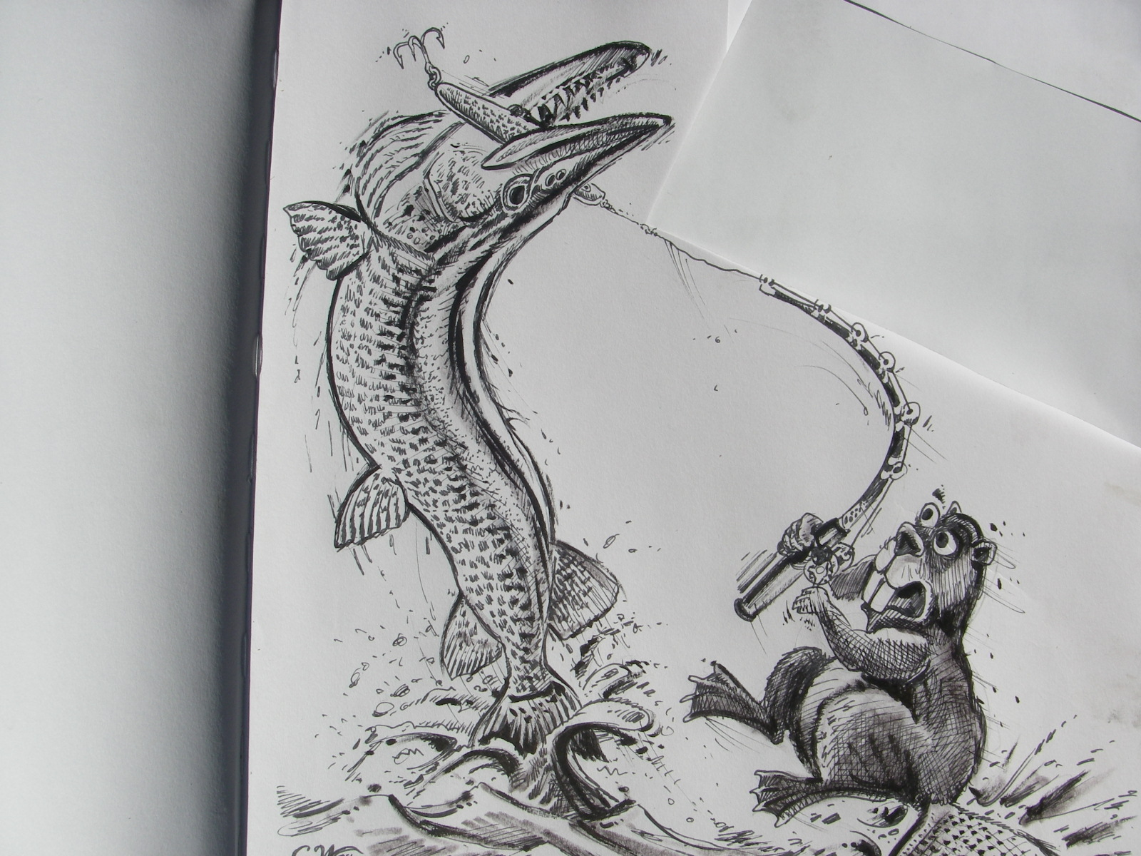 Musky Fish Drawing The muskies are waiting,