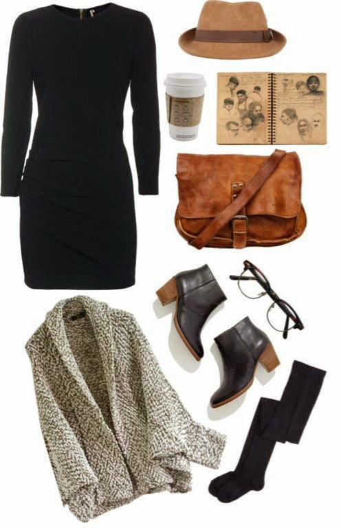 IR-black-dress-brown-cardigan-madewell-black-boots-christys-felt-halt-ewers-thigts