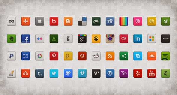 social media icons: free web design resources