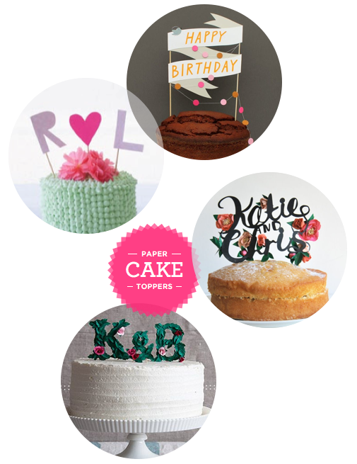 Pretty Paper Cake Toppers | Sweet Tooth