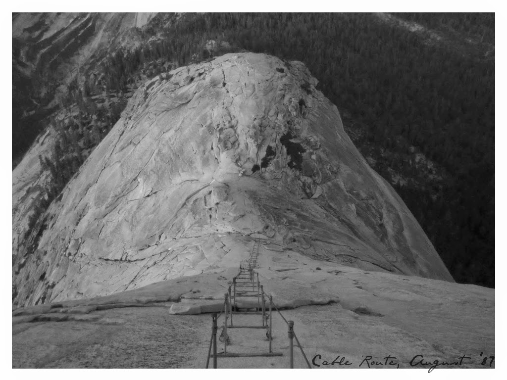 Cable Route East Face of Half Dome