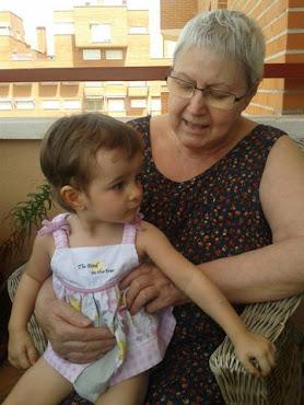 Con mi nietecita Sara