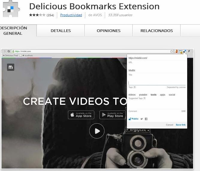 Delicious Bookmark Extension Google Chrome