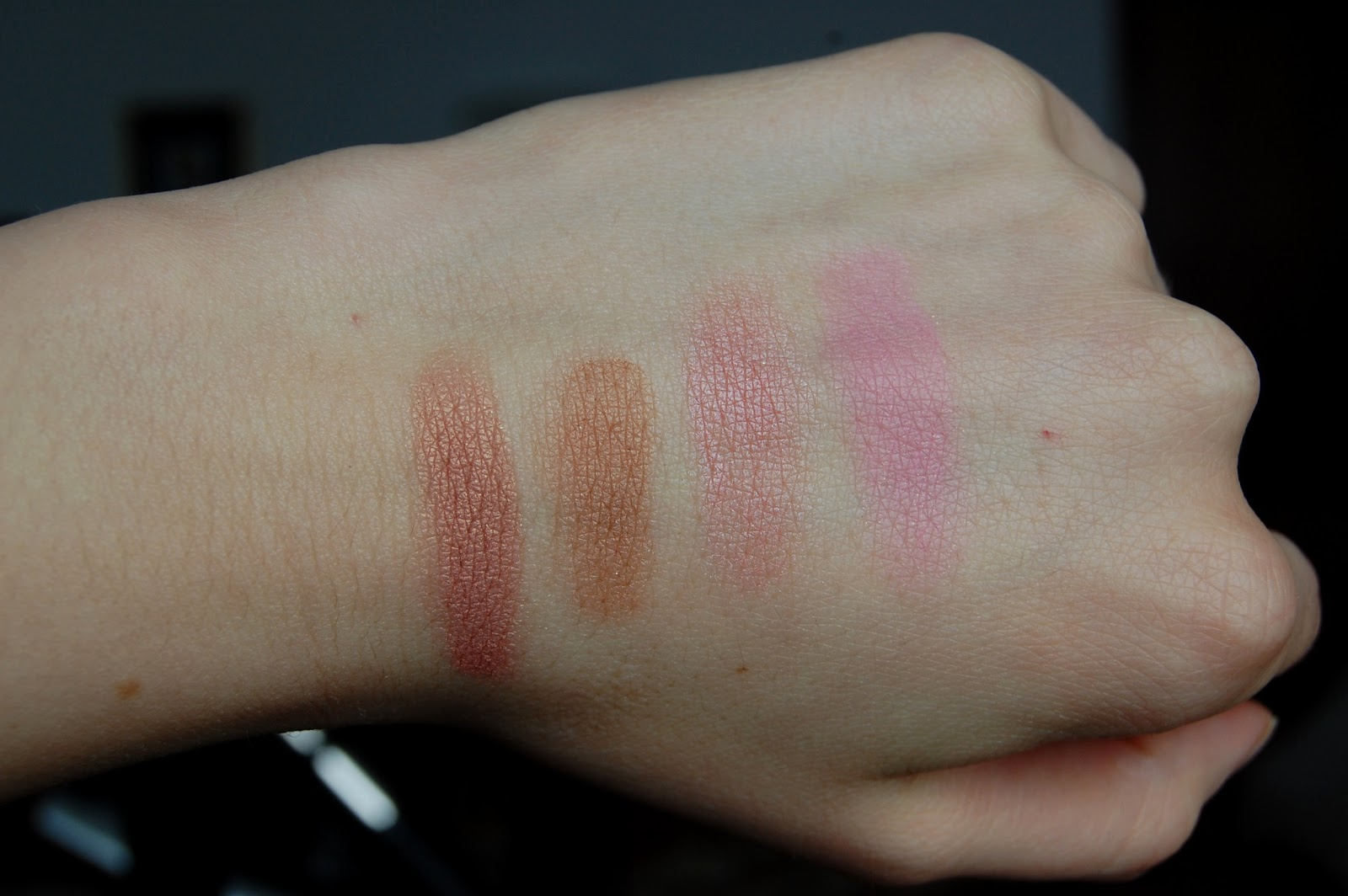 MUA Blushes Swatches