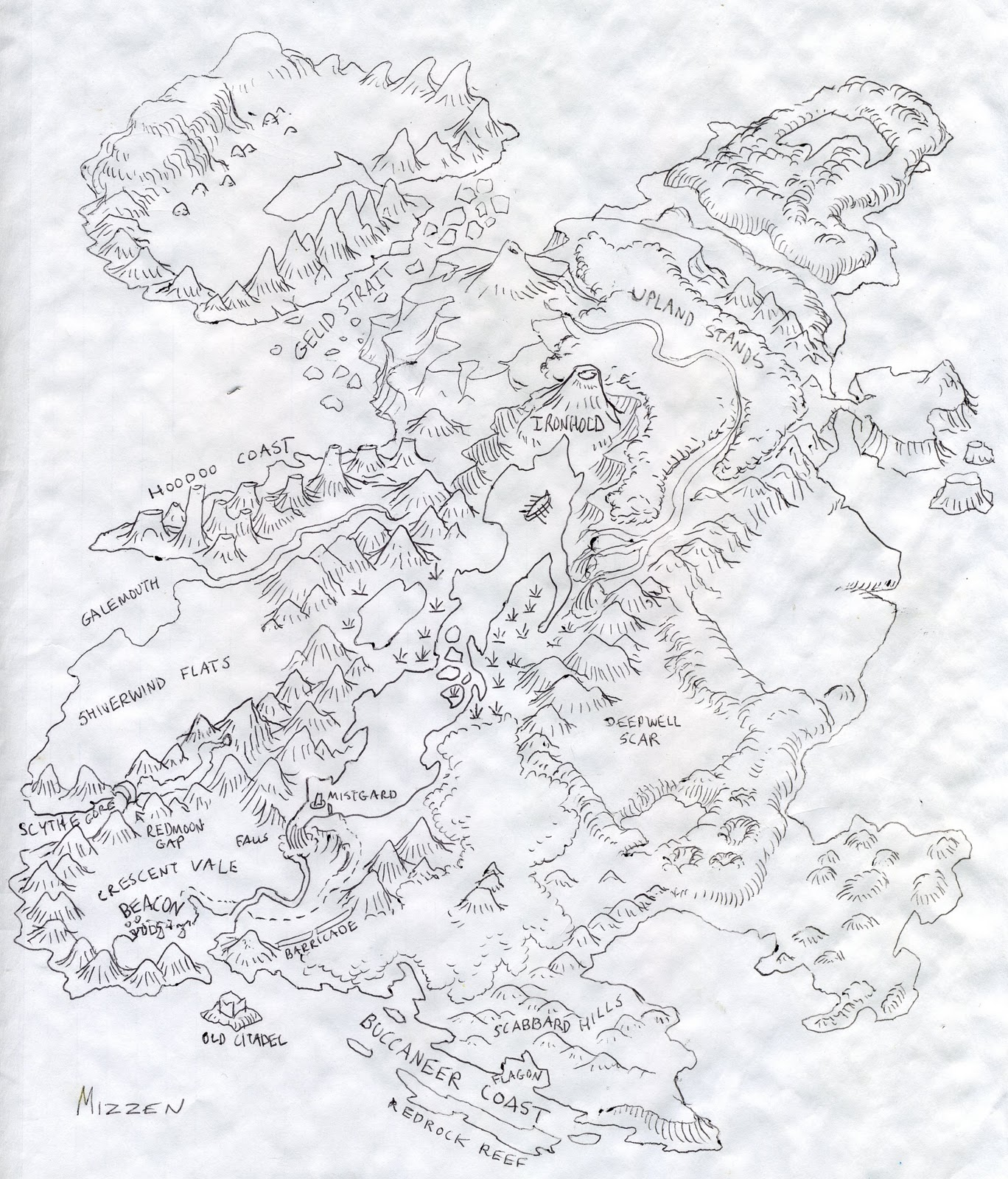 This is a mini-campaign map I drew a few years back. Have fun ...