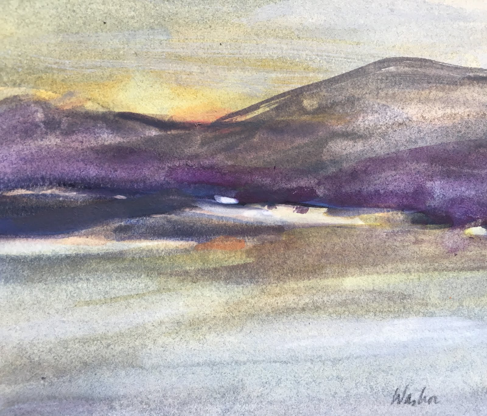 Joyce Washor: Ashokan Reservoir watercolors