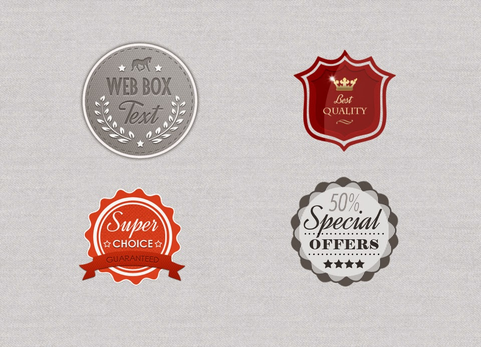 Badges Free PSD