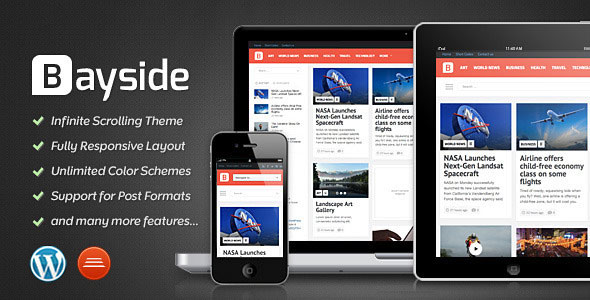 Download Free Bayside v1.4 Themeforest Responsive WordPress Theme