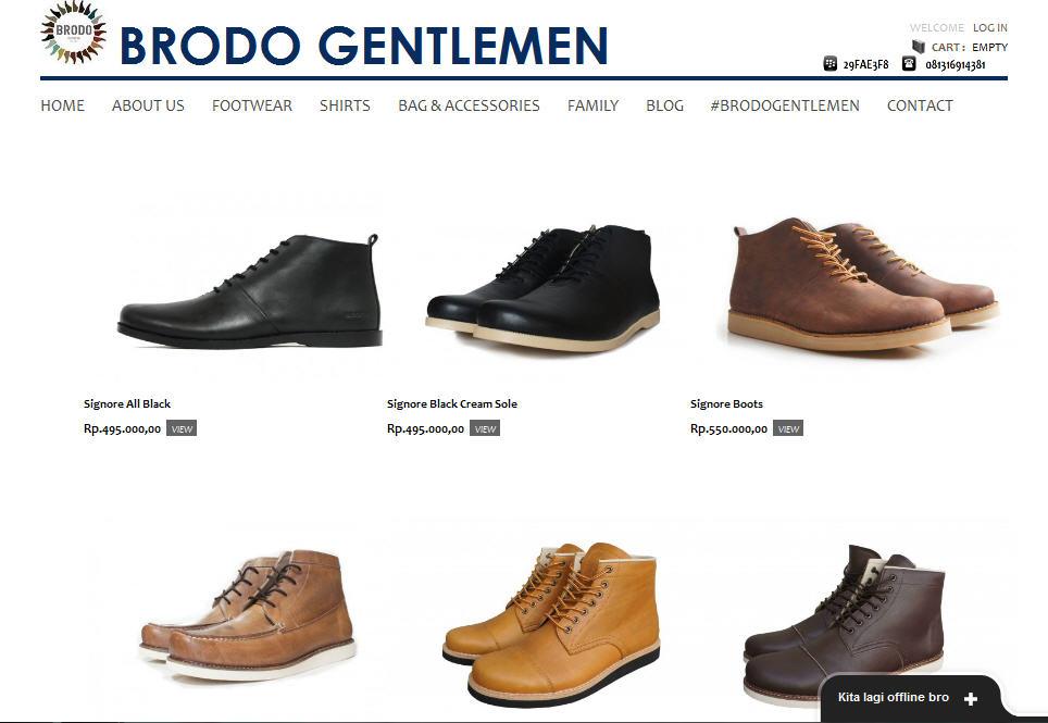 website ini menjual berbagai macam sepatu berjenis boots website ini