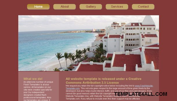 Travel Hotel Pink Website Template