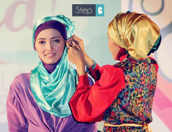 cara memakai hijab untuk pesta