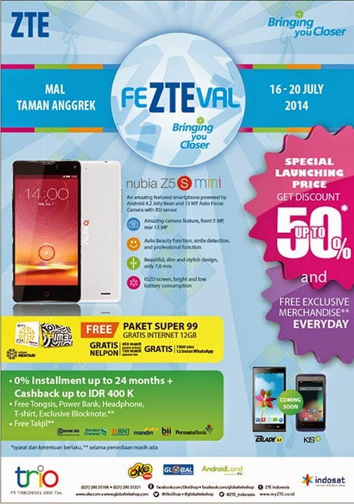 ZTE Nubia Z5S mini promo launching