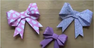Cara Membuat Pita Dari Kertas Lipat