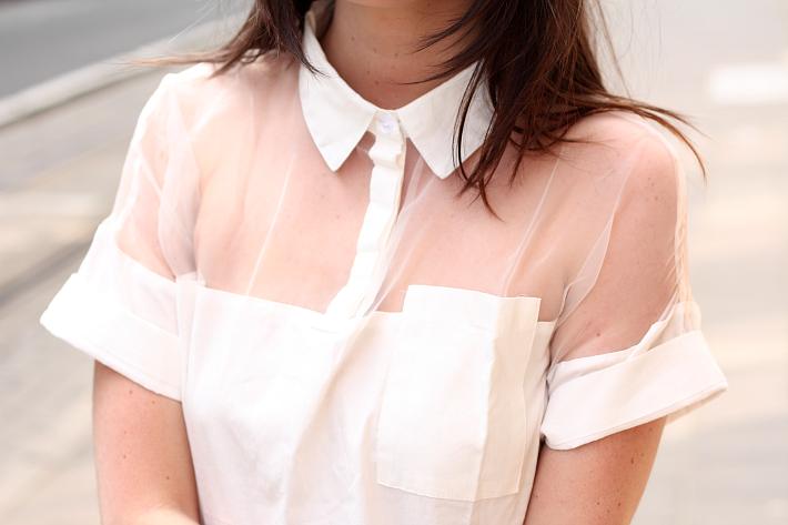 oasap blouse see-through panel