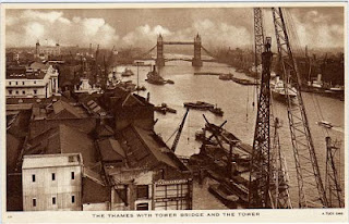 vintage postcard of tower bridge, london