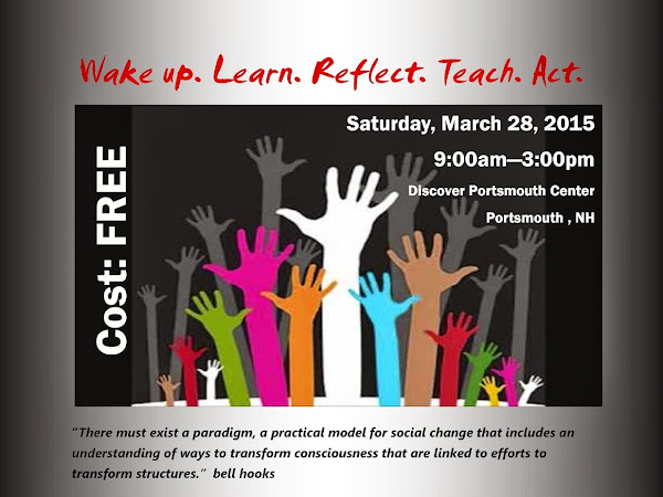 Wake up. Learn. Reflect. Teach. Act.-March 28th 9-3, Discover Portsmouth Center