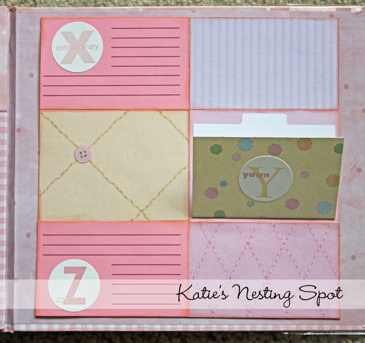 Abc scrapbook ideas list - For The Last Page I Fit The Last Three Letters But If Doing It Again I Think Move Letter Z To The Back Cover To Make The Photo Spaces Larger