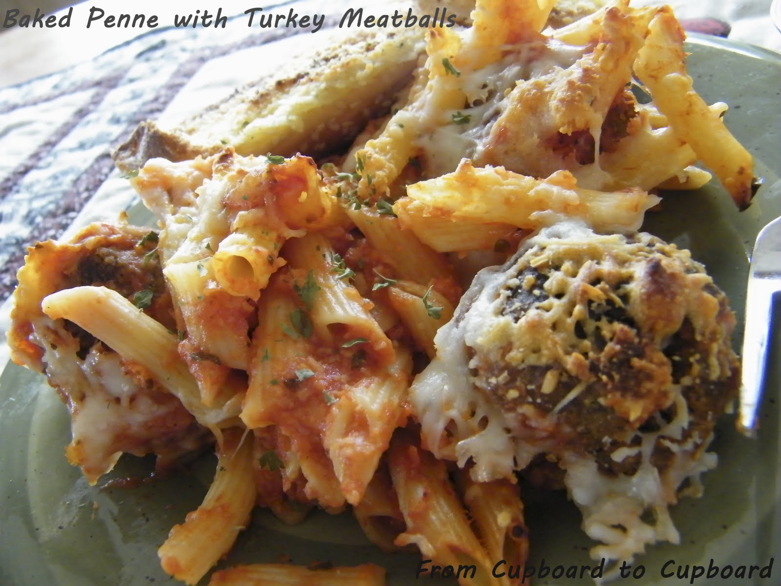 ... : Menu Board Monday Edition #10: Baked Penne with Turkey Meatballs
