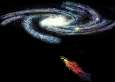 Giant gas cloud on collision course with the Milky Way Galaxy