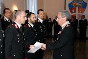 Il Gen. Regionale di Puglia Aldo Visone, premia i militari meritevoli di  encomio.