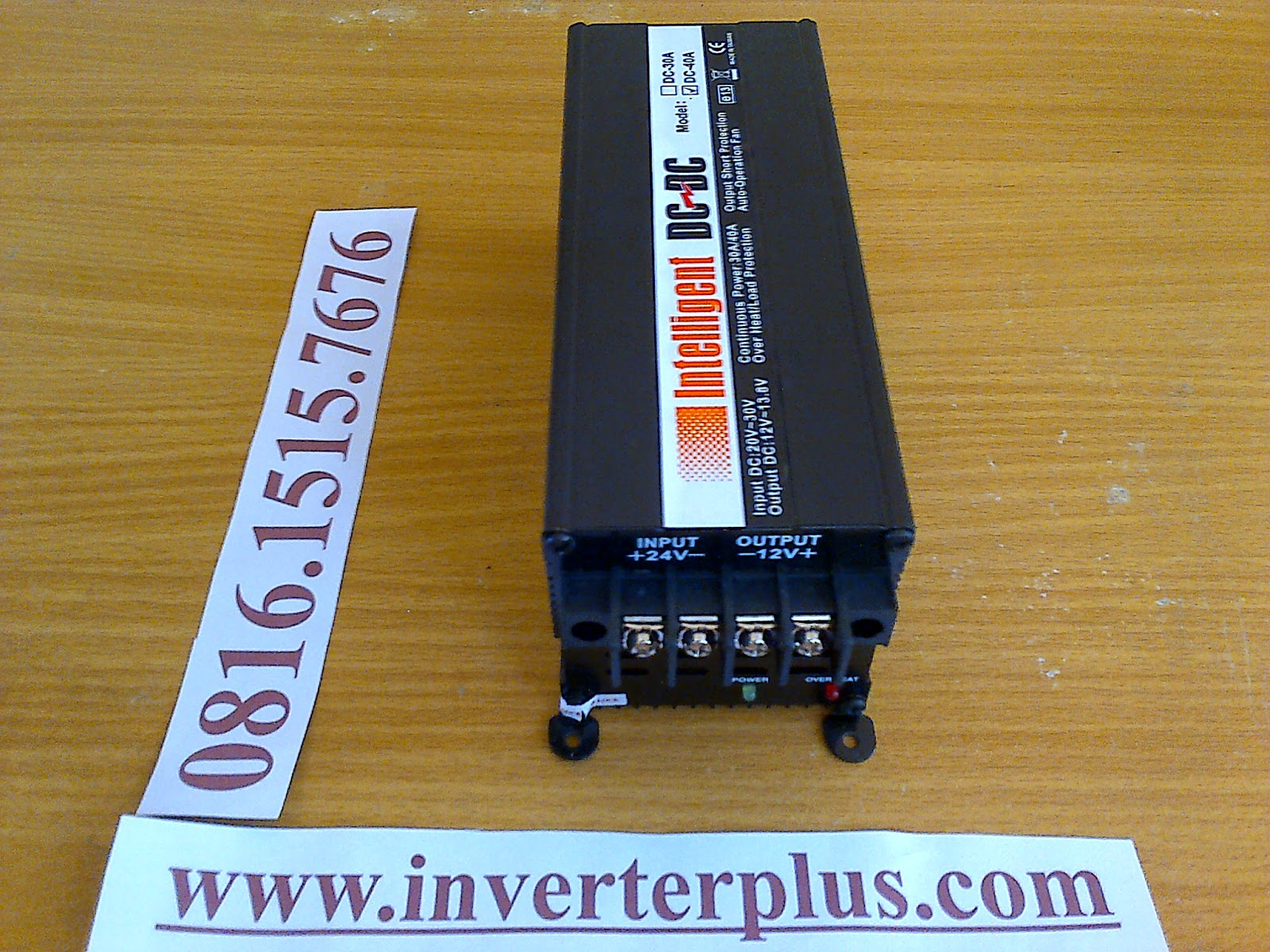 Converter 24VDC to 12VDC Intelligent