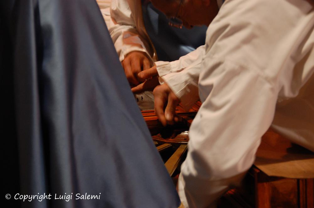 Preparazione della croce