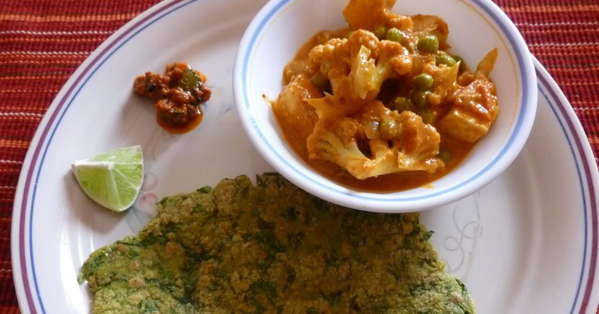 Enjoy Indian Food: Palakwali Makke Di Roti - Spinach Corn Flatbread