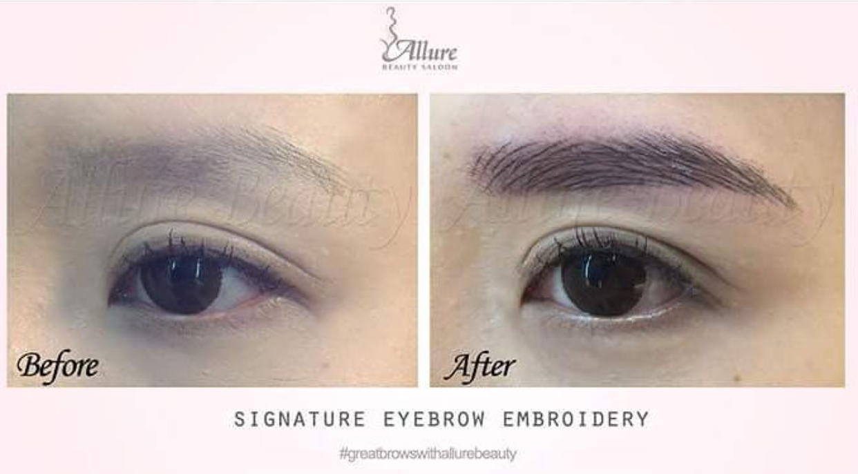 Live a life you will remember allure beauty signature for 1 salon eyebrow embroidery