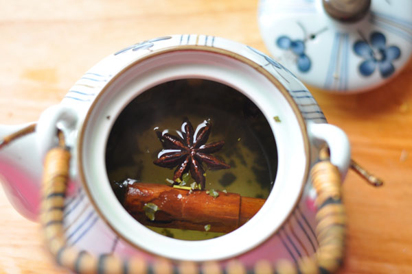 green tea cinnamon star anise