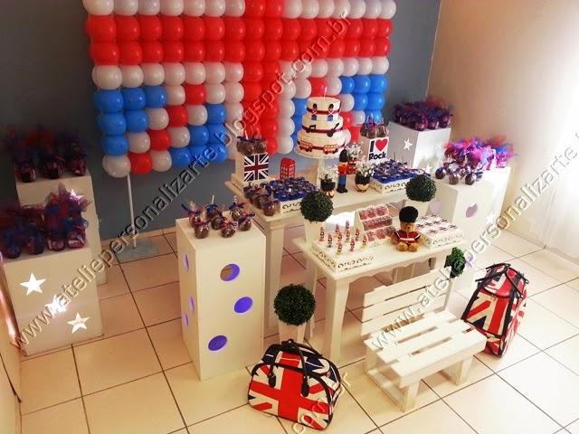 decoracao aniversario infantil rock inglês