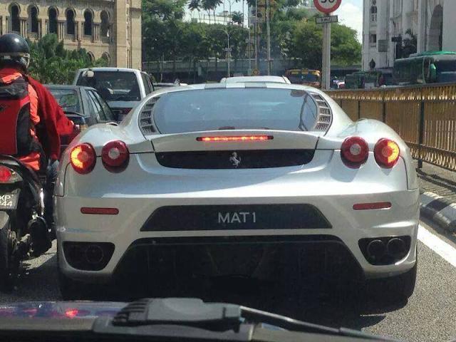 Milik Bekas Ketua Menteri Rupanya Ferrari Plet MAT 1 Itu