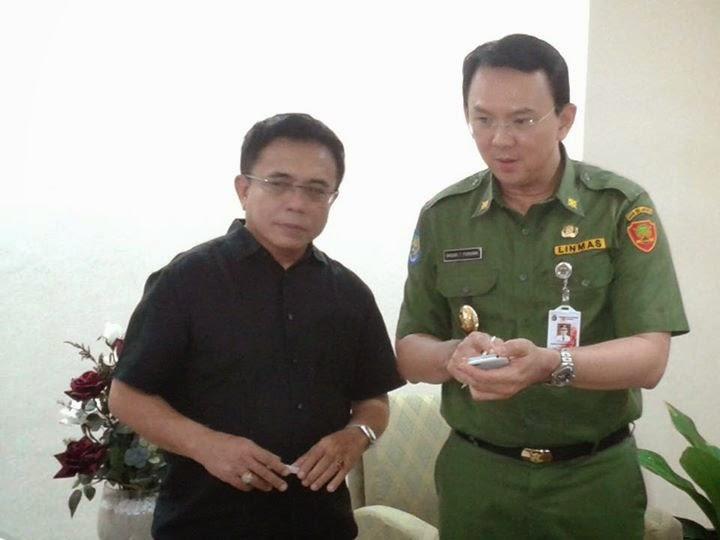 "FOTO Irwandi Yusuf dan Gubernur Jakarta Basuki ""AHOK"" 2014"