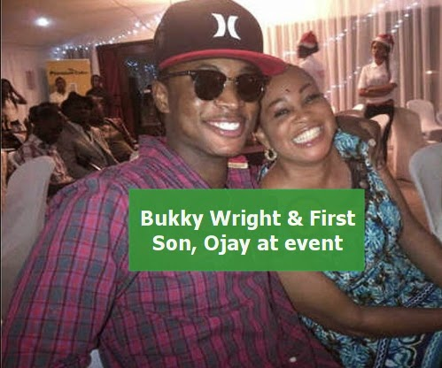 bukky wright son girlfriend gives birth
