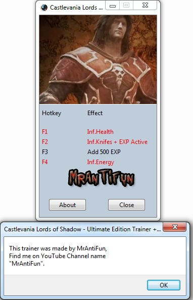 Castlevania Lords of Shadow - Ultimate Edition Trainer +4 V1.0 MrAntiFun