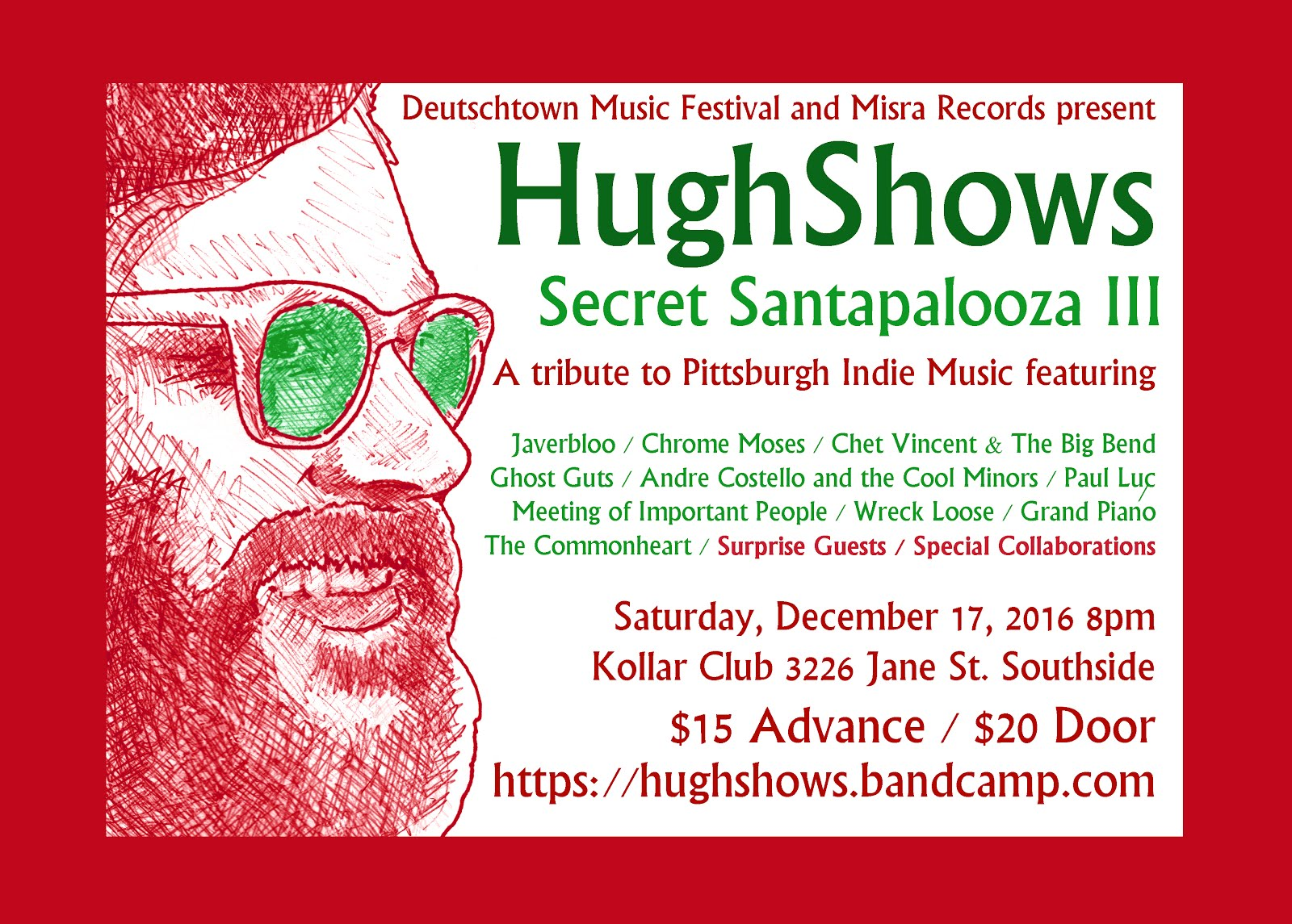 HughShows Seecret Santapalooza 3 on Saturday, December 17