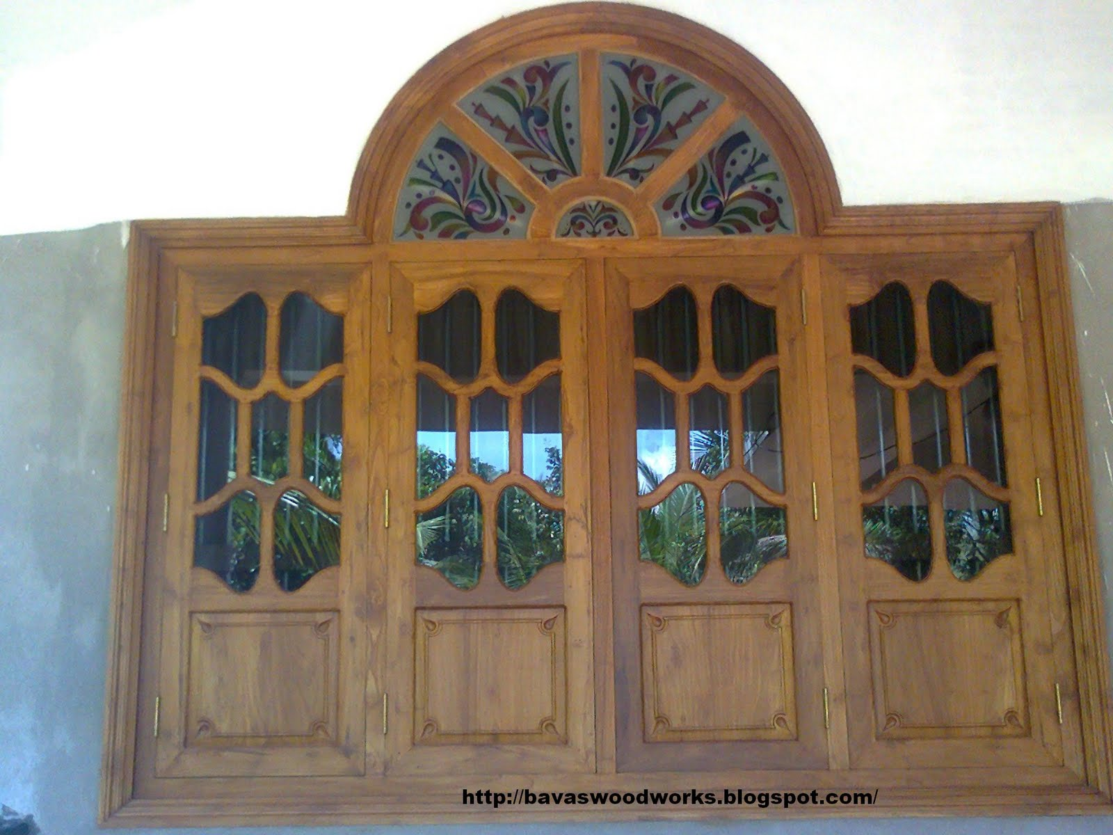 Bavas Wood Works Arched Wooden Door Frame With Double