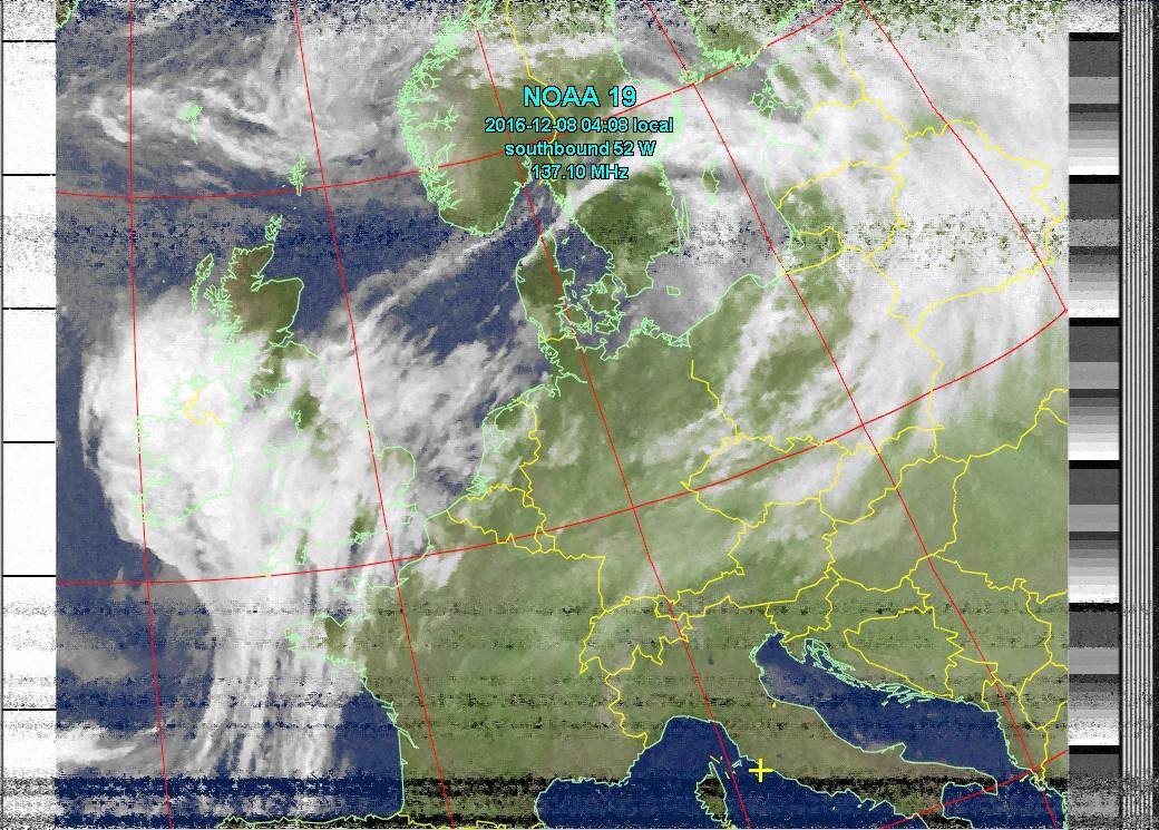 Immagine meteo da satellite